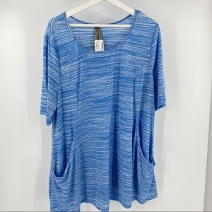Penningtons short sleeve tunic with pockets NWT